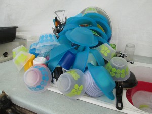 2i I was proud of my artwork, a carefully stacked pile of washing up