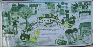 5f radical routes banner on veggies tent